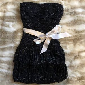 Little black and silver dress. Padded.